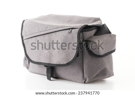 camera bag isolated on white background - stock photo