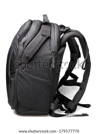 Camera bag on white background - stock photo