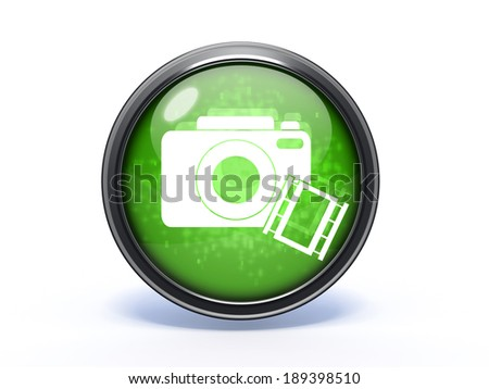 camera circular icon on white background