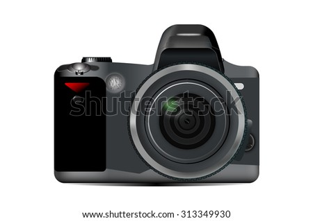 Camera close-up isolated on a white background illustration