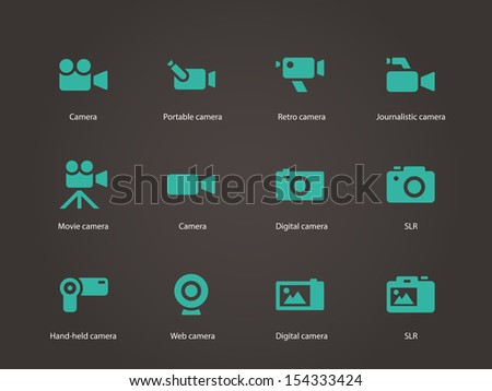 Camera icons. See also vector version.