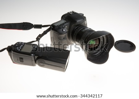Camera isolated on a white background