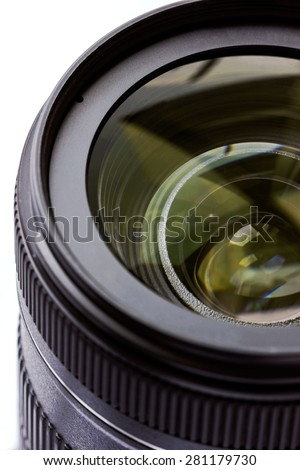 Camera lens macro photography - stock photo