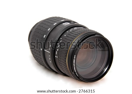 Camera Lens 70-300mm - stock photo