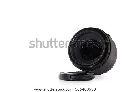 Camera Lens , Reflection , Isolated , Clipping Path , Copy Space