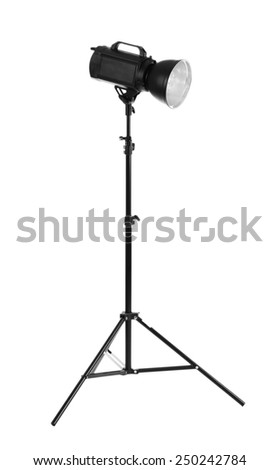 Camera lightning with reflector isolated on white