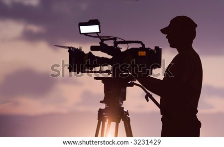 camera man - stock photo