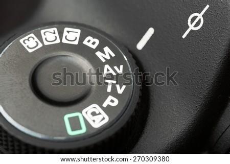 Camera, mode, dslr. - stock photo