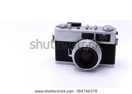 camera old Close up  , some positions to blurry , select focus with shallow depth of field : idea use for picture style vintage - stock photo