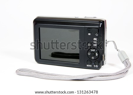 Camera on a white background - stock photo