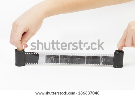 camera on the white background - stock photo