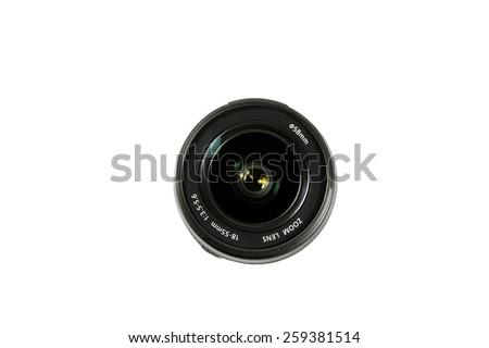 camera zoom lens - stock photo