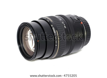 Camera zoom lens Isolated on white