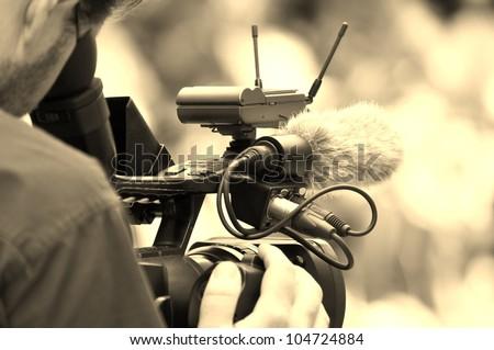 cameraman - stock photo
