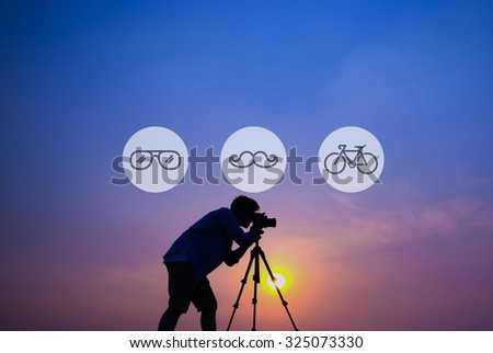 Cameraman Hipster Aspiration Lifestyle Concept - stock photo