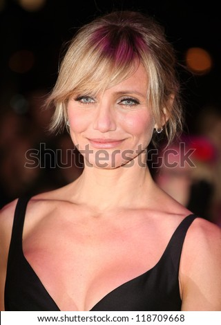Cameron Diaz arriving for the World Premiere of Gambit, at the Empire Leicester Square, London. 07/11/2012 Picture by: Alexandra Glen