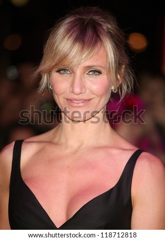 Cameron Diaz arriving for the World Premiere of Gambit, at the Empire Leicester Square, London. 07/11/2012 Picture by: Alexandra Glen - stock photo