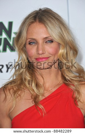 """Cameron Diaz at the Los Angeles premiere of her new movie """"The Green Hornet"""" at Grauman's Chinese Theatre, Hollywood. January 10, 2011  Los Angeles, CA Picture: Paul Smith / Featureflash - stock photo"""