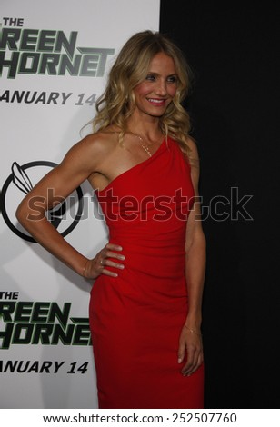 "Cameron Diaz at the Los Angeles Premiere of ""The Green Hornet"" held at the Grauman's Chinese Theater in Hollywood, California, United States on January 10, 2010."