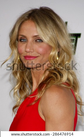 Cameron Diaz at the Los Angeles premiere of 'The Green Hornet' held at the Grauman's Chinese Theatre in Hollywood on January 10, 2010.  - stock photo