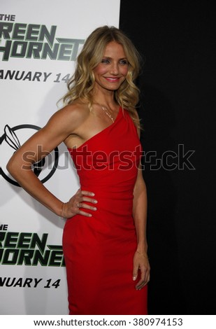 "Cameron Diaz at the Los Angeles premiere of ""The Green Hornet"" held at the Grauman's Chinese Theater in Hollywood, USA on January 10, 2010."