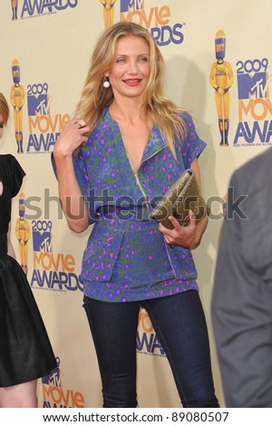Cameron Diaz at the 2009 MTV Movie Awards at Universal Studios, Hollywood. May 31, 2009  Los Angeles, CA Picture: Paul Smith / Featureflash - stock photo