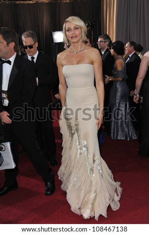 Cameron Diaz at the 84th Annual Academy Awards at the Hollywood & Highland Theatre, Hollywood. February 26, 2012  Los Angeles, CA Picture: Paul Smith / Featureflash - stock photo