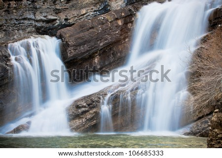 Cameron Falls Flowing, Waterton National Park