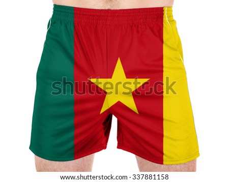 Cameroon. Cameroonian flag  - stock photo