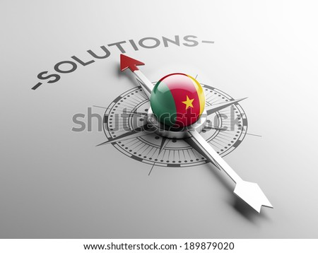 Cameroon High Resolution Compass Concept - stock photo