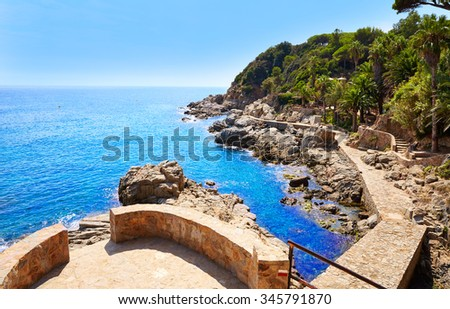 Cami de Ronda track at Lloret de Mar of Costa Brava Catalonia spain - stock photo