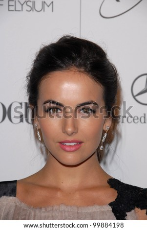 "Camilla Belle at the 2011 Art Of Elysium ""Heaven"" Gala, Annenberg Bldg., California Science Center, Los Angeles, CA. 01-15-11 - stock photo"