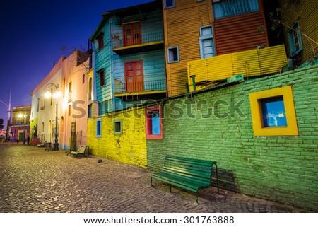 Caminito de La Boca, Buenos Aires - stock photo