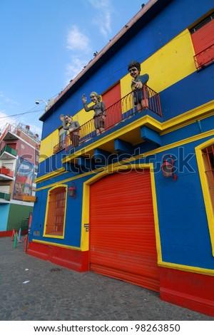 Caminito Street in La Boca, Buenos Aires - stock photo