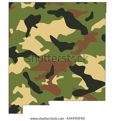 Camo texture in map - New Mexico - stock photo