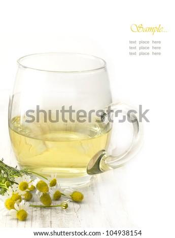 camomile tea - stock photo