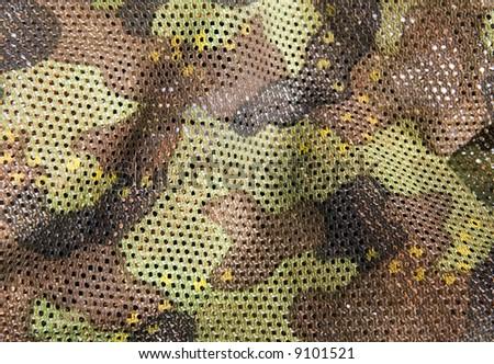 camouflage net - stock photo