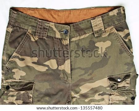 camouflage pants - stock photo