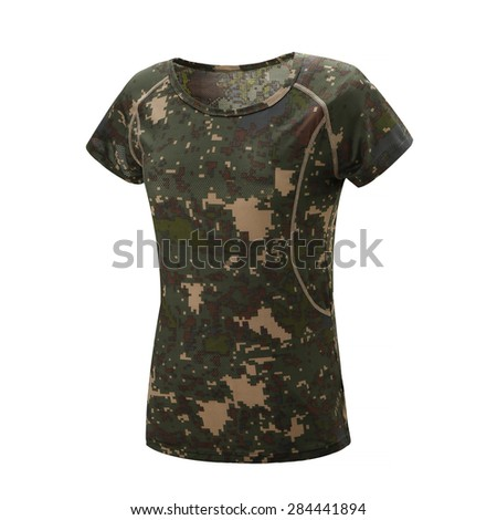 Camouflage t-shirt - stock photo