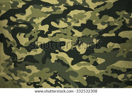 Camouflage texture,old background - stock photo