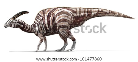 Camouflaged Herbivorous dinosaur - stock photo