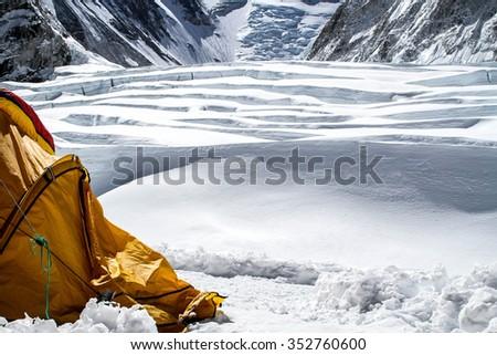Camp I, Everest - stock photo