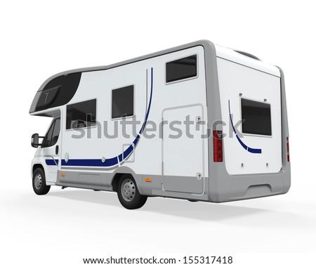 Camper Van Isolated - stock photo