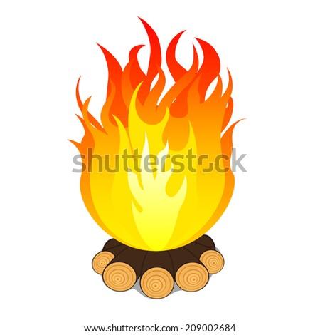 campfire. Raster version  - stock photo