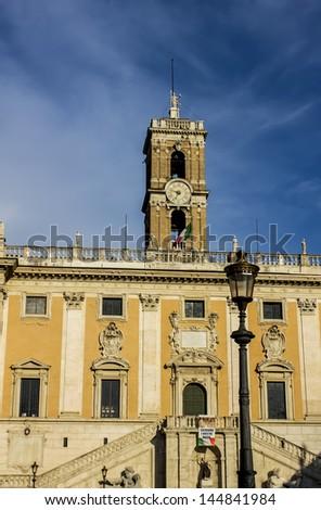 Campidoglio square in Rome, Italy - stock photo