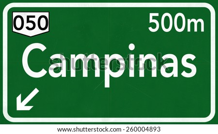 Campinas Highway Road Sign