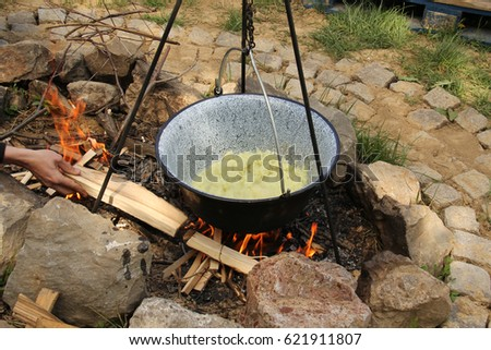 Camping and Cooking on Fire
