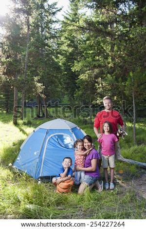Camping Family - stock photo