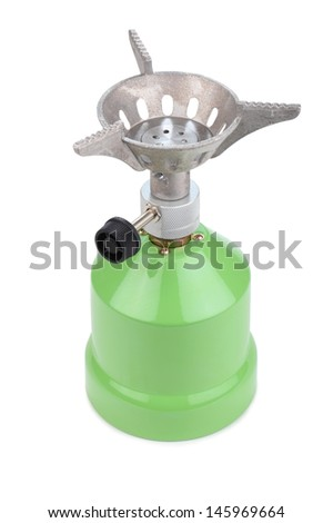 camping gas cooker on a white background