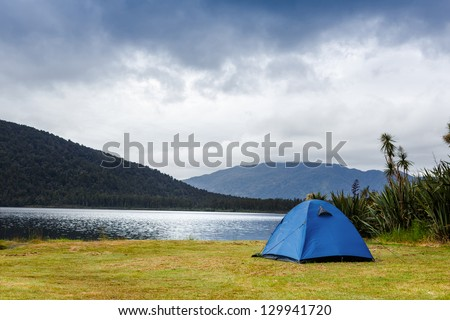 Camping in the wilderness - stock photo